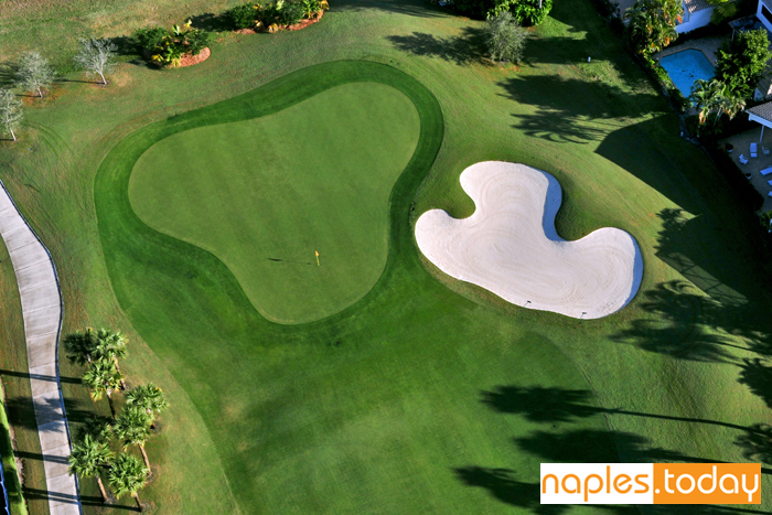 Arial of Naples golf course