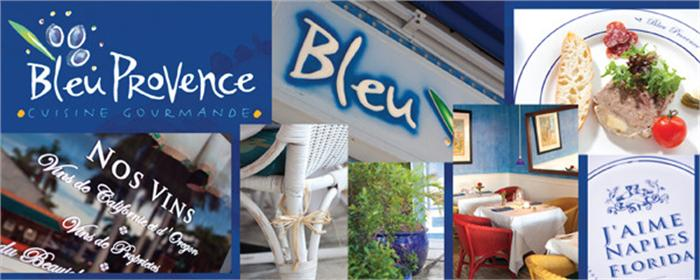 Dinner invitation from Bleu Provence French restaurant in downtown Naples Florida