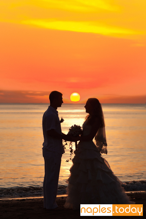 Sunset Beach Wedding In Naples Florida