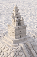 Amazing sandcastle at the Naples beach