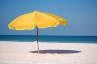 Beach umbrella at Naples beach