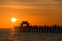 Beautiful sunset at Naples pier