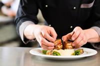 Chef preparing dish in Naples Florida