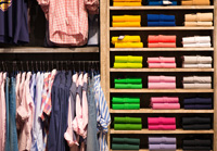 Various colored shirts in Naples Florida shop