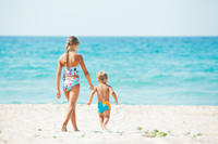 Family beach vacation in Naples Florida