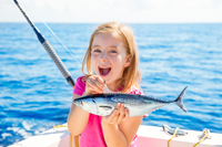 Lucky catch for little girl