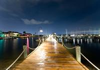 Naples city dock at dusk