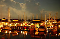 Night at a Naples Bay marina
