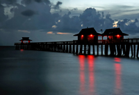 Nightfall at the Naples pier