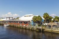 Old city dock in Naples Florida