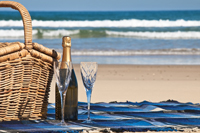 Romantic picnic at Naples beach