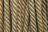 Rope close-up at city dock of Naples