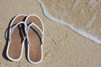 Sandals on Naples beach