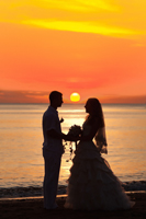 Sunset beach wedding in Naples Florida