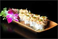 Firecracker Sushi Roll at AZN Azian Cuizine restaurant at Mercato in Naples Florida
