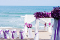 Wedding set up on Naples beach